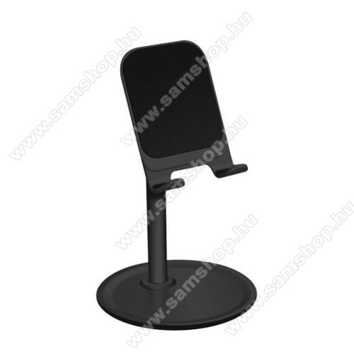 UNIVERZÁLIS alumínium asztali tartó / állvány - 10 ° ~ 45 °-os szöghez állítható, nem kihúzató!, csúszásgátló - FEKETE