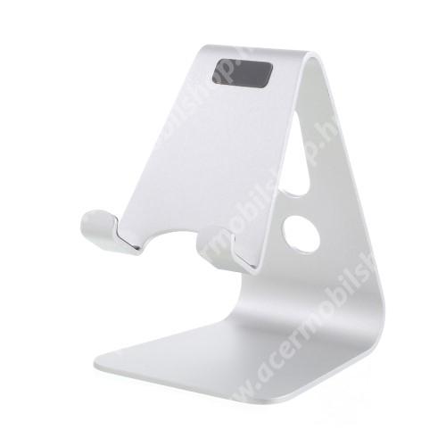 ACER Liquid Z3 UNIVERZÁLIS alumínium asztali tartó / állvány - FEHÉR