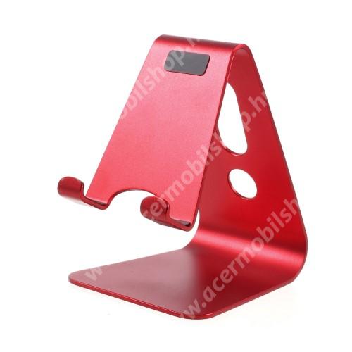 ACER Liquid Z3 UNIVERZÁLIS alumínium asztali tartó / állvány - PIROS