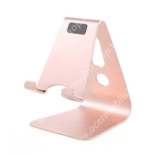 ACER Liquid Z3 UNIVERZÁLIS alumínium asztali tartó / állvány - ROSE GOLD