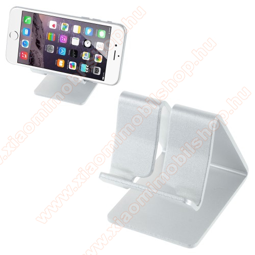 Xiaomi Redmi Note 2UNIVERZÁLIS alumínium asztali tartó / állvány - EZÜST
