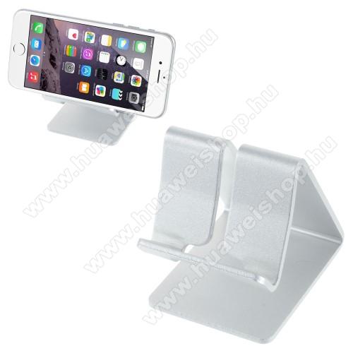HUAWEI Honor 4C (G Play Mini)UNIVERZÁLIS alumínium asztali tartó / állvány - EZÜST