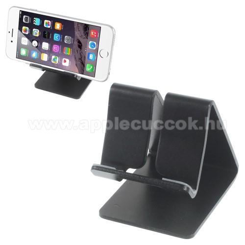 APPLE IPhone 5SUNIVERZÁLIS alumínium asztali tartó / állvány - FEKETE