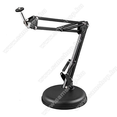 UNIVERZÁLIS asztali kamera tartó / fotóállvány - 360°-ban forgatható, dönthető, összecsukható, 45 cm hosszú kar, 1/4