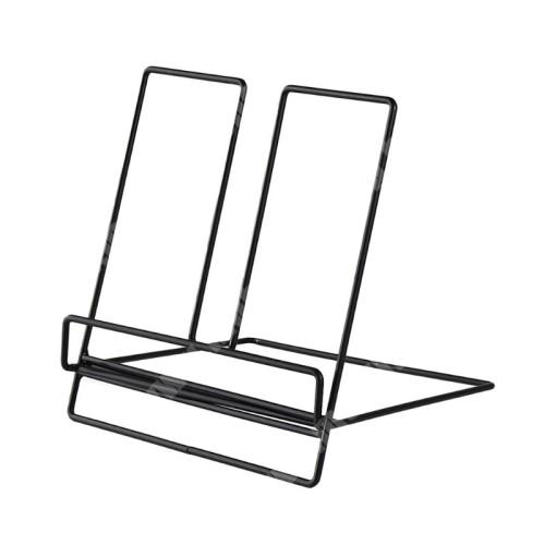 UNIVERZÁLIS asztali tartó / állvány - fém, tablet, könyvtartó állvány, 200 x 180 x 205mm - FEKETE