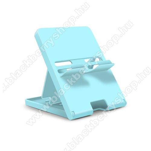 UNIVERZÁLIS asztali tartó, állvány Nintendo Switch / Lite-hoz - csúszásgátló, összecsukható, 4 állítható szög 70°,60°,50°,40° - KÉK