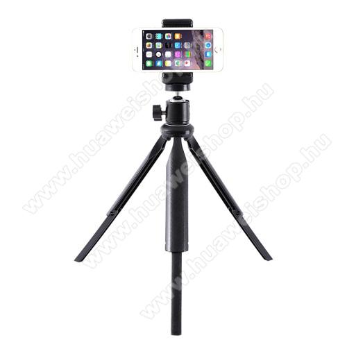 UNIVERZÁLIS asztali tartó/ tripod fotó állvány - 360°-ban forgatható, 90°-os dőlésszög, állítható bölcső 55–80mm-ig, 22cm-30cm-ig állítható magasság, univerzális 1/4