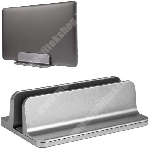 HTC Desire 12s UNIVERZÁLIS asztali telefon, tablet, laptop tartó, alumínium állvány - 14-73mm-ig állítható bölcső - EZÜST