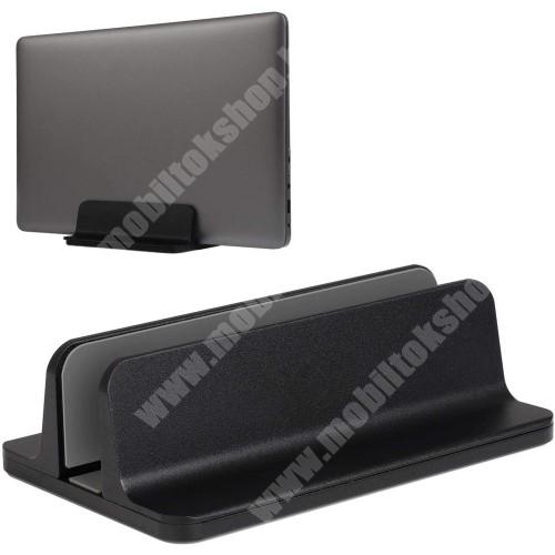 HTC Desire 12s UNIVERZÁLIS asztali telefon, tablet, laptop tartó, alumínium állvány - 14-73mm-ig állítható bölcső - FEKETE