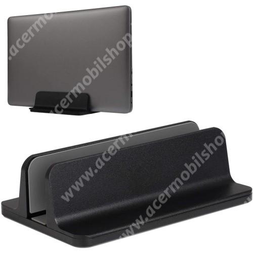 ACER Liquid Z3 UNIVERZÁLIS asztali telefon, tablet, laptop tartó, alumínium állvány - 14-73mm-ig állítható bölcső - FEKETE