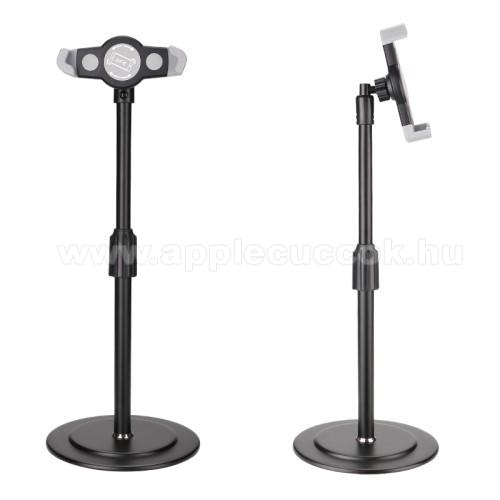 APPLE iPOD TouchUNIVERZÁLIS asztali telefon / Tablet PC tartó / állvány - 360°-ban forgatható, alumínium, állítható magasság, csúszásgátló, 200-320mm-ig nyíló bölcső, 4-12