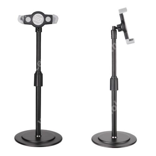 """ACER N311 UNIVERZÁLIS asztali telefon / Tablet PC tartó / állvány - 360°-ban forgatható, alumínium, állítható magasság, csúszásgátló, 200-320mm-ig nyíló bölcső, 4-12""""-os készülékekhez - FEKETE"""