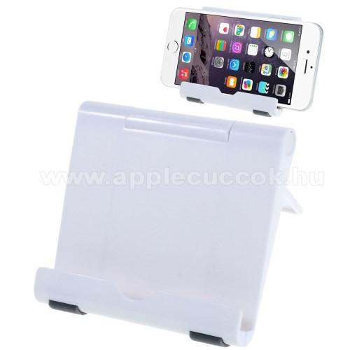 APPLE IPhone 5CUNIVERZÁLIS asztali telefon tartó, állvány - FEHÉR