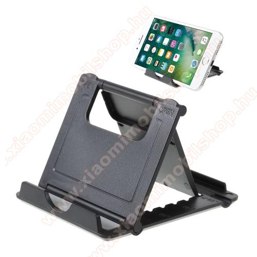 Xiaomi Mi 4cUNIVERZÁLIS asztali telefon tartó, állvány - 5 állítható szög, összecsukható - FEKETE