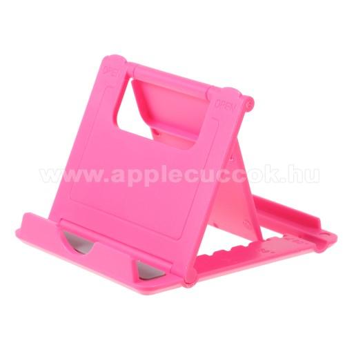 APPLE iPOD photo (40 GB, 60 GB)UNIVERZÁLIS asztali telefon tartó, állvány - 5 állítható szög, összecsukható - MAGENTA