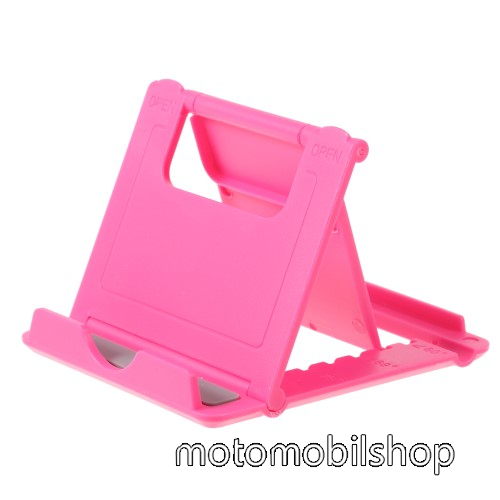 UNIVERZÁLIS asztali telefon tartó, állvány - 5 állítható szög, összecsukható - MAGENTA