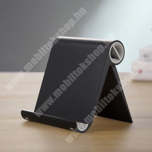 LG KG220 UNIVERZÁLIS asztali telefon tartó, állvány - állítható szög, összecsukható, összecsukott méret 102 x 87 x 25 mm - FEKETE