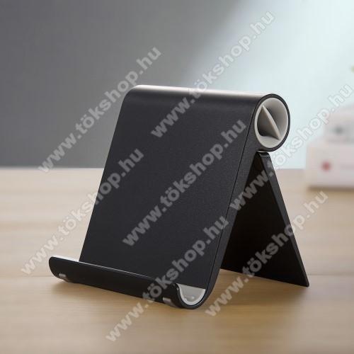 Xiaomi Poco M3 Pro 5GUNIVERZÁLIS asztali telefon tartó, állvány - állítható szög, összecsukható, összecsukott méret 102 x 87 x 25 mm - FEKETE