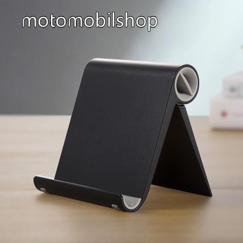 MOTOROLA W490 UNIVERZÁLIS asztali telefon tartó, állvány - állítható szög, összecsukható, összecsukott méret 102 x 87 x 25 mm - FEKETE