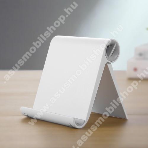 ASUS PadFone X miniUNIVERZÁLIS asztali telefon tartó, állvány - állítható szög, összecsukható, összecsukott méret 102 x 87 x 25 mm - FEHÉR