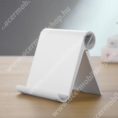 ACER beTouch T500 UNIVERZÁLIS asztali telefon tartó, állvány - állítható szög, összecsukható, összecsukott méret 102 x 87 x 25 mm - FEHÉR