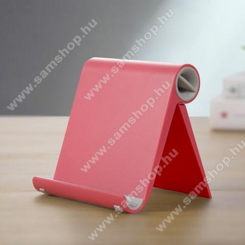 SAMSUNG SGH-F275UNIVERZÁLIS asztali telefon tartó, állvány - állítható szög, összecsukható, összecsukott méret 102 x 87 x 25 mm - PIROS