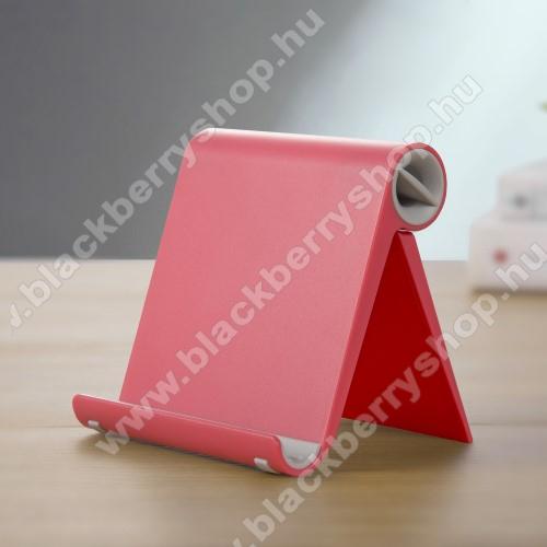 BLACKBERRY Q20 Classic Non CameraUNIVERZÁLIS asztali telefon tartó, állvány - állítható szög, összecsukható, összecsukott méret 102 x 87 x 25 mm - PIROS