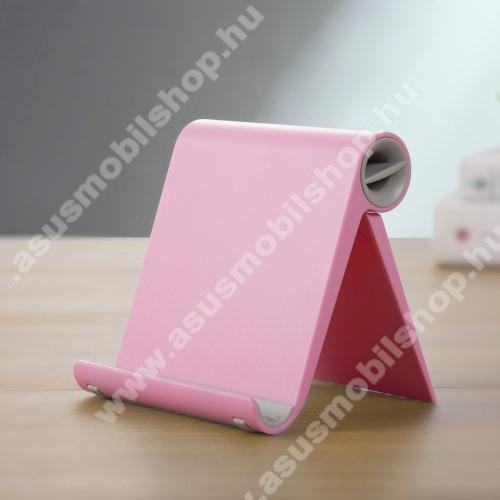 ASUS PadFone InfinityUNIVERZÁLIS asztali telefon tartó, állvány - állítható szög, összecsukható, összecsukott méret 102 x 87 x 25 mm - RÓZSASZÍN