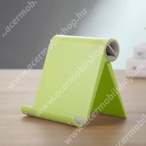 ACER beTouch T500 UNIVERZÁLIS asztali telefon tartó, állvány - állítható szög, összecsukható, összecsukott méret 102 x 87 x 25 mm - ZÖLD
