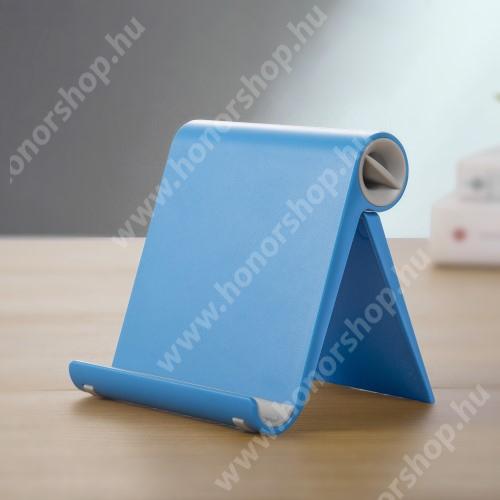 HUAWEI Honor 10 UNIVERZÁLIS asztali telefon tartó, állvány - állítható szög, összecsukható, összecsukott méret 102 x 87 x 25 mm - KÉK