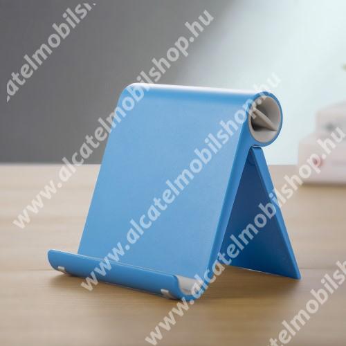 ALCATEL A3 UNIVERZÁLIS asztali telefon tartó, állvány - állítható szög, összecsukható, összecsukott méret 102 x 87 x 25 mm - KÉK