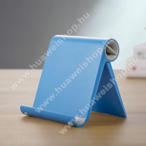 HUAWEI Mate 20 LiteUNIVERZÁLIS asztali telefon tartó, állvány - állítható szög, összecsukható, összecsukott méret 102 x 87 x 25 mm - KÉK