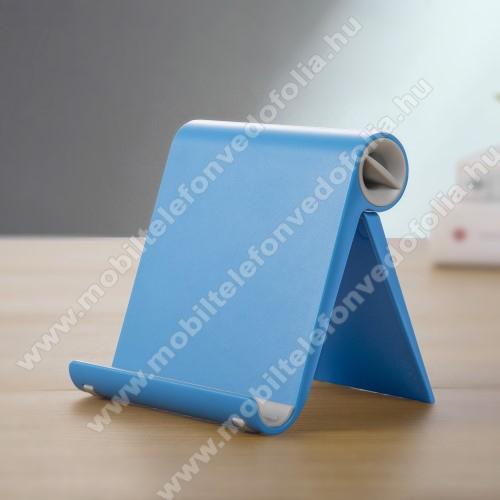 ZTE S30 SEUNIVERZÁLIS asztali telefon tartó, állvány - állítható szög, összecsukható, összecsukott méret 102 x 87 x 25 mm - KÉK