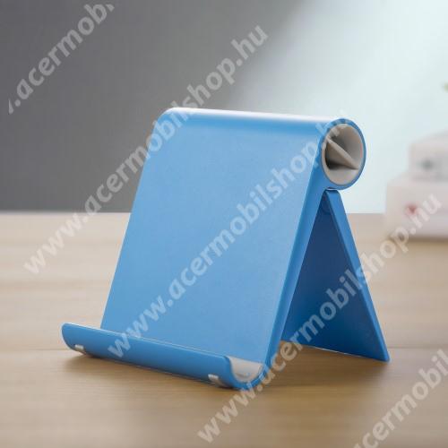 ACER Liquid Z220 UNIVERZÁLIS asztali telefon tartó, állvány - állítható szög, összecsukható, összecsukott méret 102 x 87 x 25 mm - KÉK