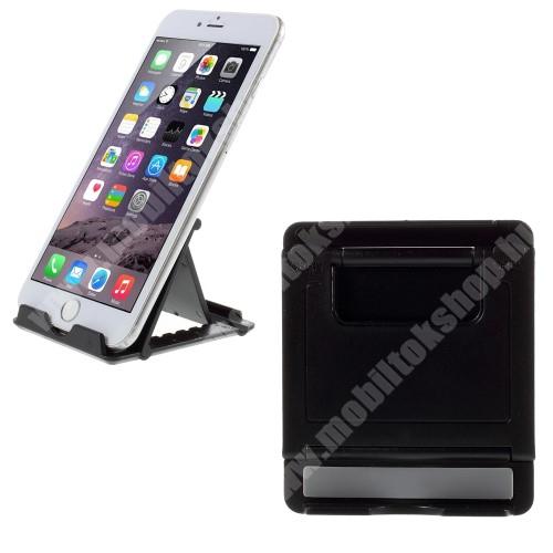 APPLE iPhone X UNIVERZÁLIS asztali telefon tartó, állvány - FEKETE