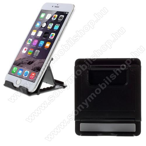SONY Xperia E4g (E2003 / E2006 / E2053)UNIVERZÁLIS asztali telefon tartó, állvány - FEKETE