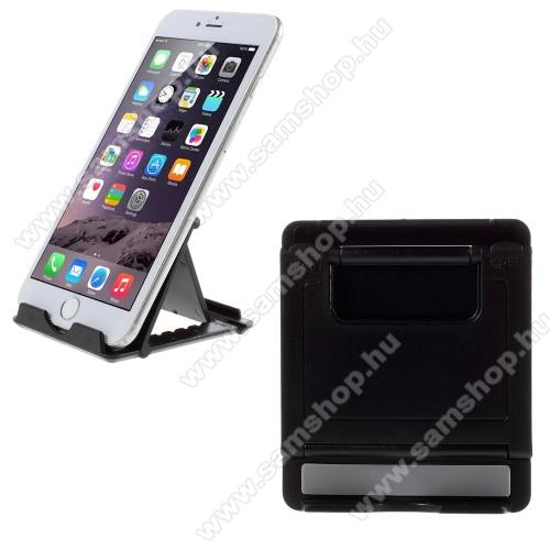 SAMSUNG GT-I9506 Galaxy S IV.UNIVERZÁLIS asztali telefon tartó, állvány - FEKETE
