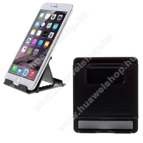 HUAWEI P8 maxUNIVERZÁLIS asztali telefon tartó, állvány - FEKETE