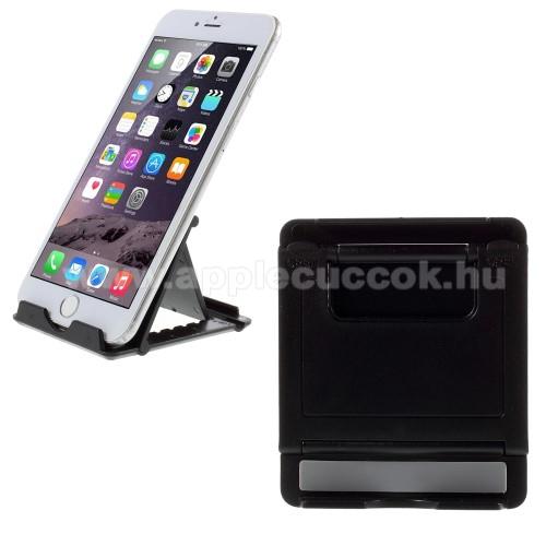 APPLE iPhone 7 PlusUNIVERZÁLIS asztali telefon tartó, állvány - FEKETE