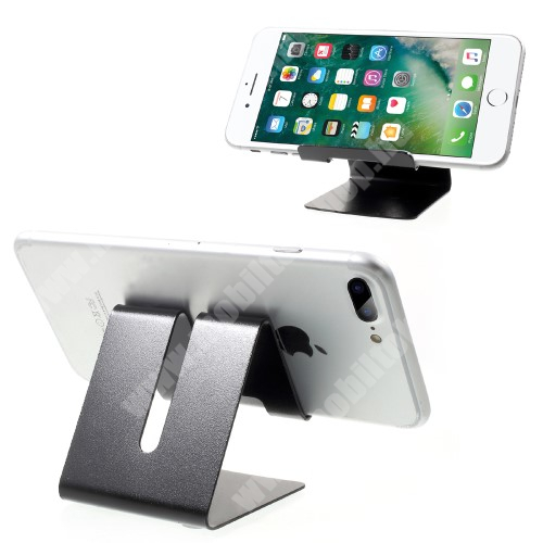 Sony Xperia X Compact (F5321) UNIVERZÁLIS asztali telefon tartó, állvány - FEKETE