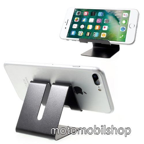 MOTOROLA Moto G8 Plus UNIVERZÁLIS asztali telefon tartó, állvány - FEKETE