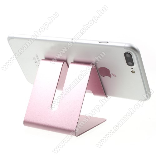 SAMSUNG Galaxy S6 Active (SM-G890)UNIVERZÁLIS asztali telefon tartó, állvány - ROSE GOLD