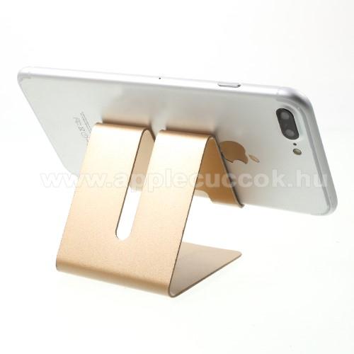 APPLE iPhone 8 PlusUNIVERZÁLIS asztali telefon tartó, állvány - ARANY