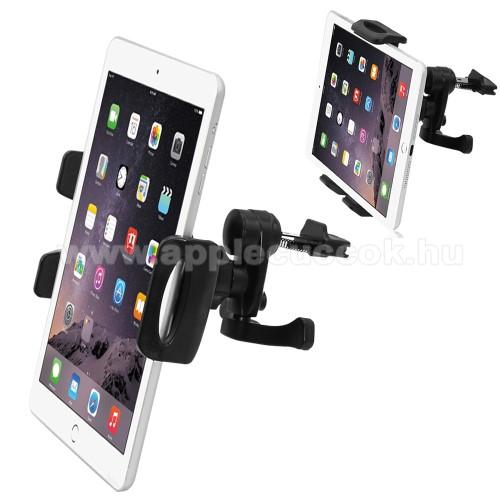 APPLE iPadUniverzális autós / gépkocsi TABLET PC / telefon tartó - szellőzőrácsra helyezhető, 360°-ban elforgatható, 100-210mm-ig állítható bölcső, 4-11