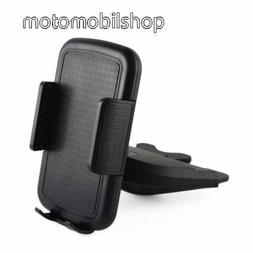 MOTOROLA MPX200 UNIVERZÁLIS autós / gépkocsi tartó - CD / DVD lejátszóba helyezhető, 70-92mm-ig állítható bölcsővel - FEKETE