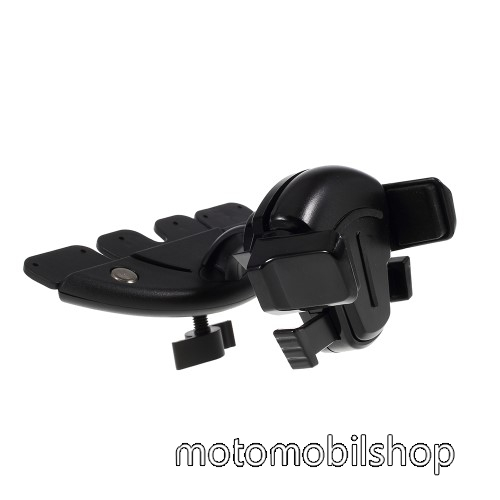 MOTOROLA V6 UNIVERZÁLIS autós / gépkocsi tartó - CD / DVD lejátszóba helyezhető, 64-85mm-ig állítható bölcsővel - FEKETE