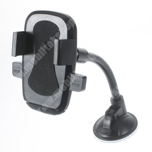 LG KE990 Viewty UNIVERZÁLIS autós / gépkocsi tartó - elforgatható, flexibilis tapadó korongos kar - 58-81 mm-ig állítható bölcső - FEKETE