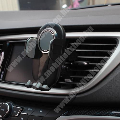 """LG GB250 UNIVERZÁLIS autós / gépkocsi tartó - FEKETE / SZÜRKE - szellőzőrácsra rögzíthető, 4.7-6.5""""-os készülékekig"""