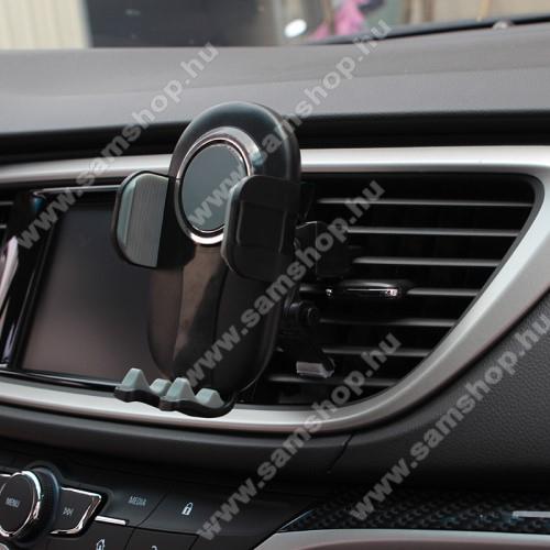 SAMSUNG SGH-E950UNIVERZÁLIS autós / gépkocsi tartó - FEKETE / SZÜRKE - szellőzőrácsra rögzíthető, 4.7-6.5