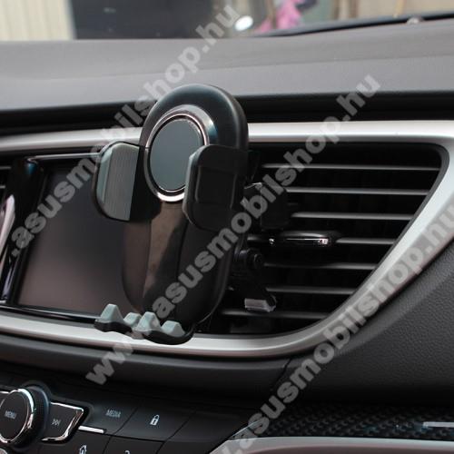 UNIVERZÁLIS autós / gépkocsi tartó - FEKETE / SZÜRKE - szellőzőrácsra rögzíthető, 4.7-6.5